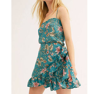 Intimately Free People Slip Wrap Floral Dress S